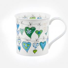 Dunoon Mugs Bute Heartstrings Green