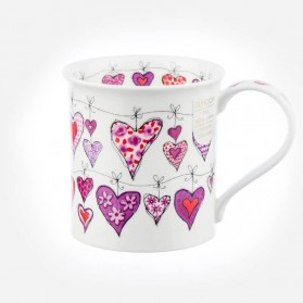 Dunoon Mugs Bute Heartstrings Pink