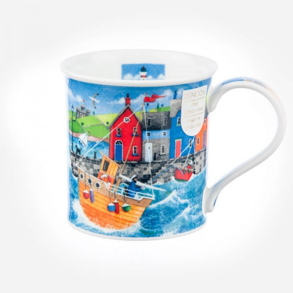 Dunoon Mugs Bute Harbour Life Orange