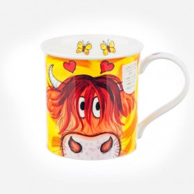 Dunoon Mugs Bute Peepers Highland cow
