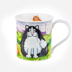 Dunoon Mugs Bute Comical Cats Black & White