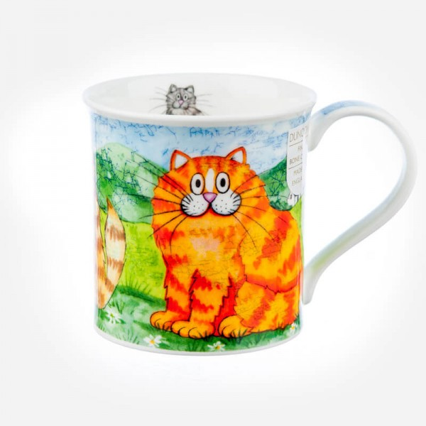Dunoon Mugs Bute Comical Cats Ginger