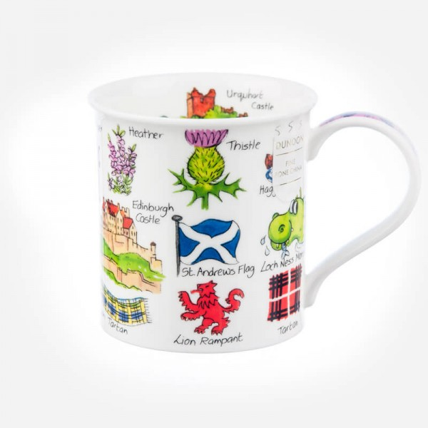 Dunoon Mugs Bute Simply Scotland Flags