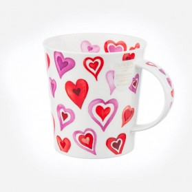 Dunoon Mugs Lomond Lovehearts Pink