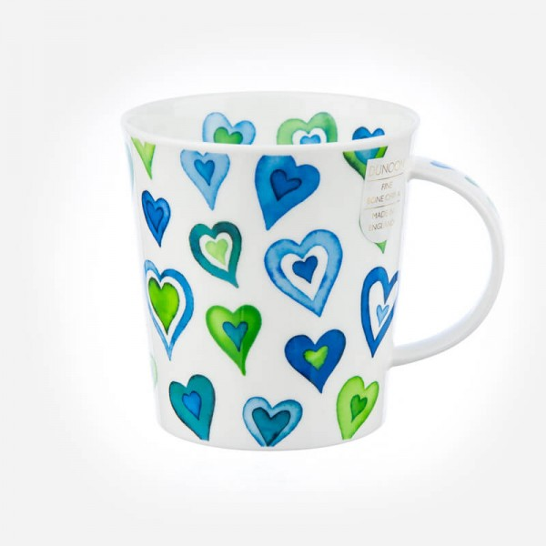 Dunoon Mugs Lomond Lovehearts blue