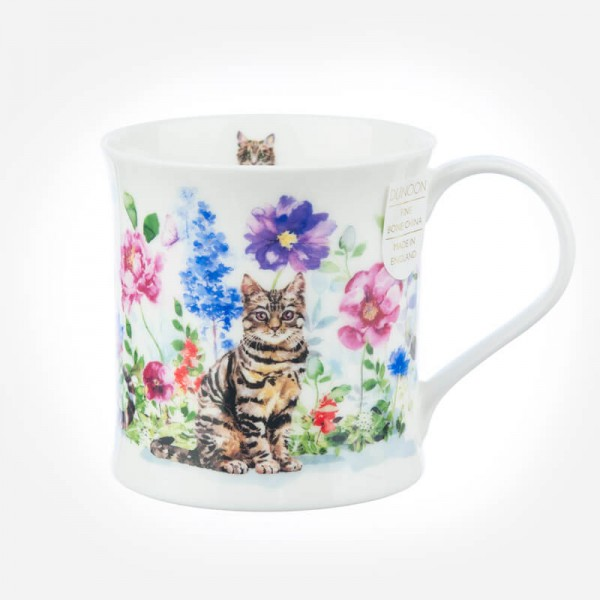 Dunoon Mugs Wessex Flower Cats Tabby