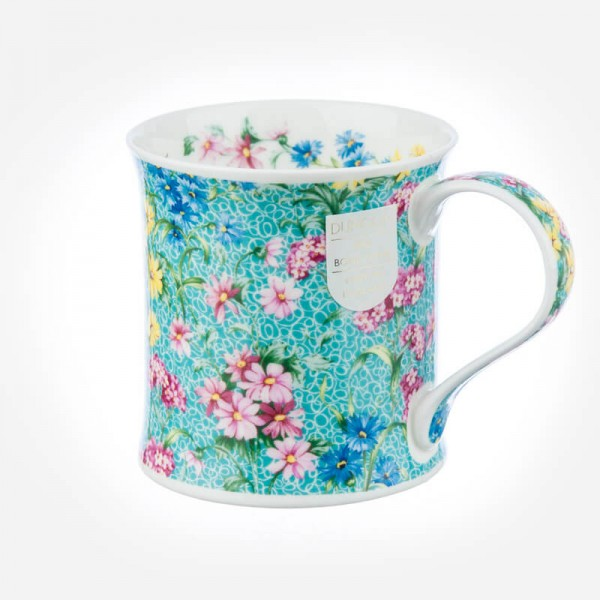 Dunoon Mugs Wessex Staffordshire Chintz Turquoise