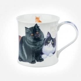 Dunoon Mugs Wessex Cats & Kittens Black