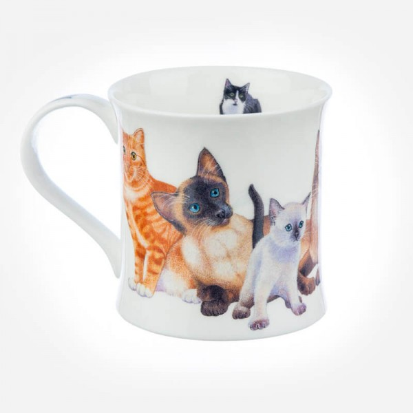 Dunoon Mugs Wessex Cats & Kittens Black