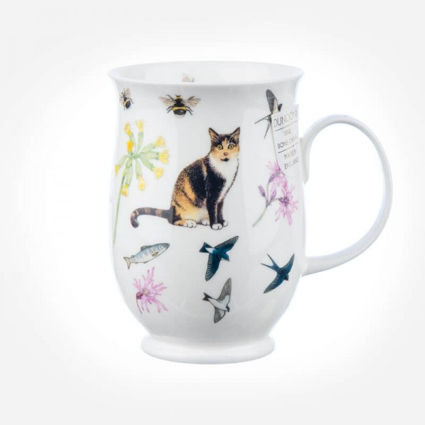 Dunoon Mugs Suffolk Garden Cats Tortoiseshell