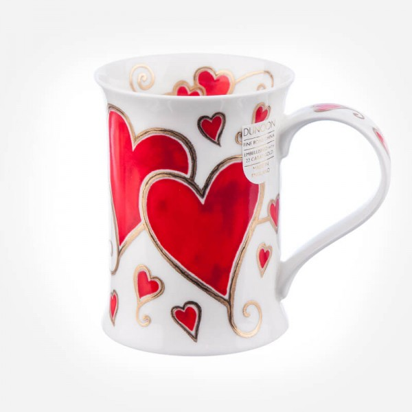 Dunoon Mugs Cotswold Juliet '14 Love hearts