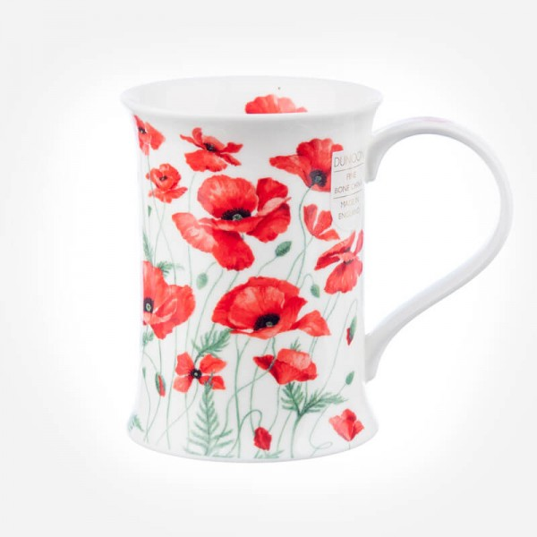 Dunoon Mugs Cotswold Poppies Red