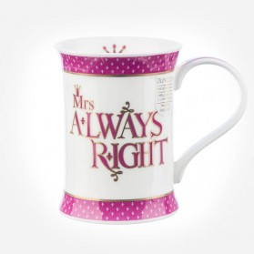 Dunoon Mugs Cotswold Mrs Always Right