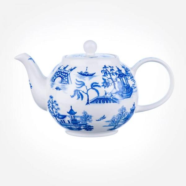 Dunoon Oriental Blue Small Tea Pot Teapot 0.75L Gift Box