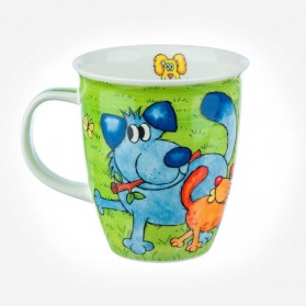 Nevis Dogs and Puppies Green Mug