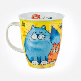 Nevis Cats and Kittens Yellow mug