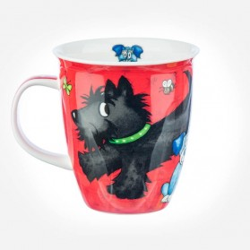 Nevis Dogs and Puppies Red Mug