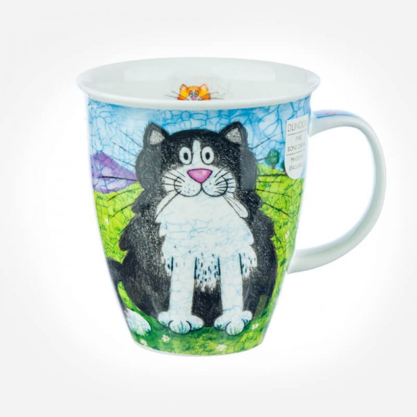 bone china cat mugs uk Nevis Happy Cats Black
