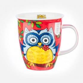 Dunoon Mugs Nevis Owls Red