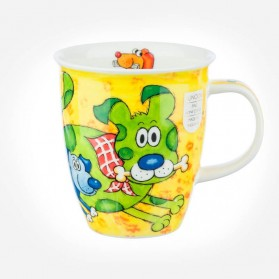 Nevis Dogs and Puppies Yellow Mug