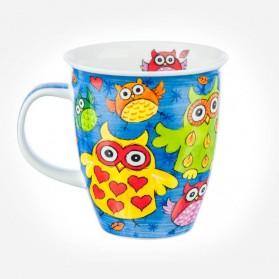 Dunoon Mugs Nevis Owls Dark Blue