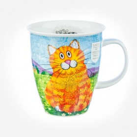 Dunoon Mugs Nevis Happy Cats Ginger