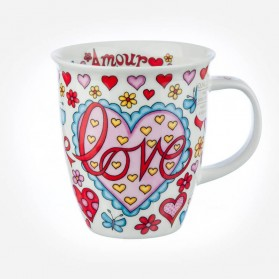 Dunoon Mugs Nevis Language of Love Blue