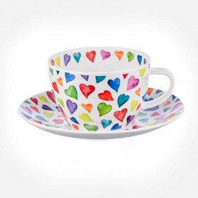 Warm hearts breakfast Cup & Saucer Gift Box