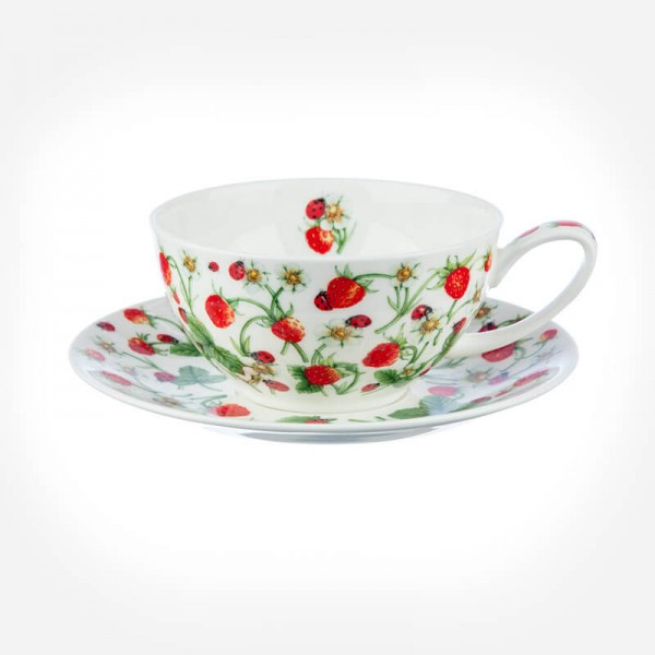 Dovedale & Strawberry Tea For One Cup & Saucer Gift Box