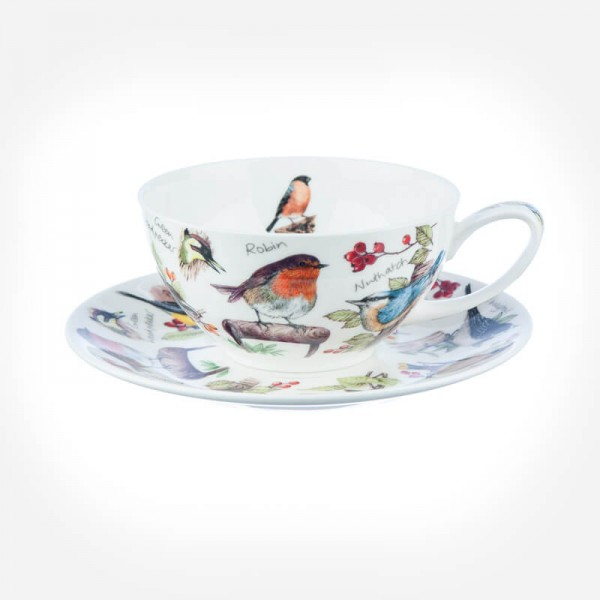 Dunoon BirdLife Tea For One Cup & Saucer Gift Box