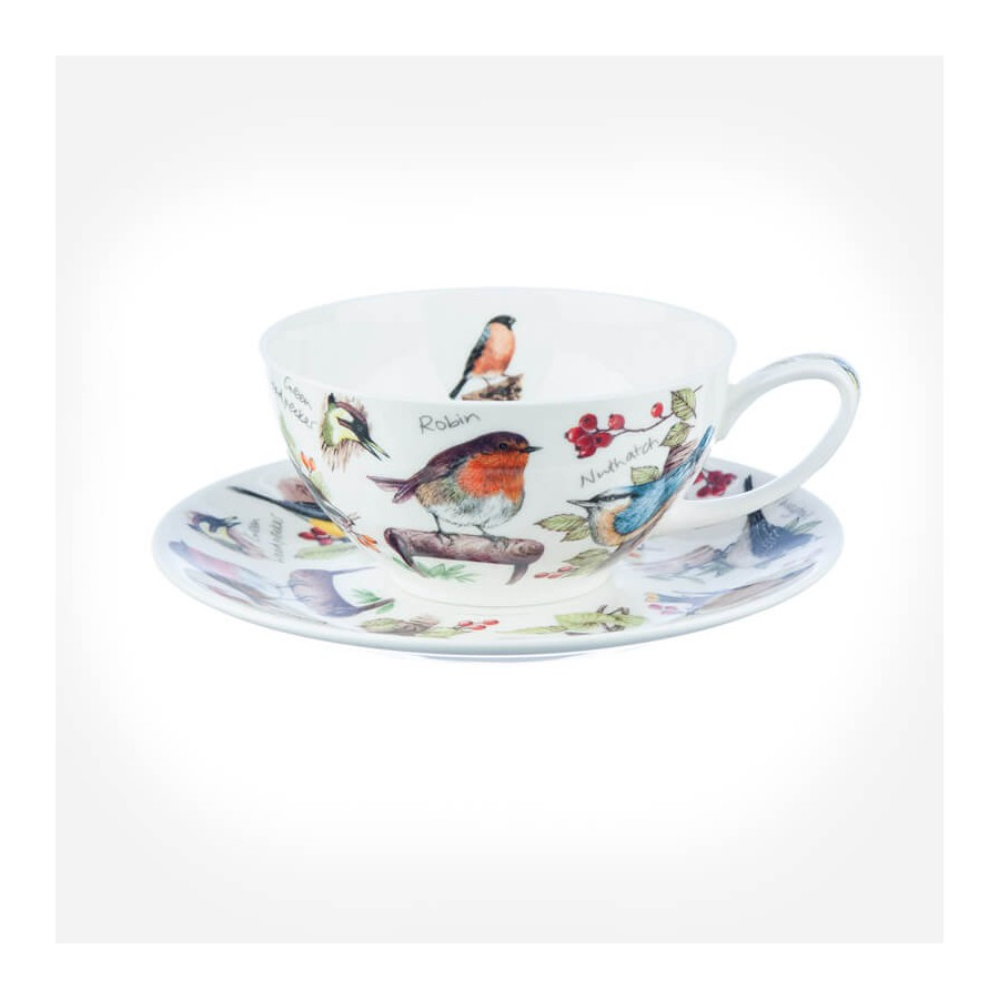 Birdlife Tea For One Tea Cup And Saucer Gift Box
