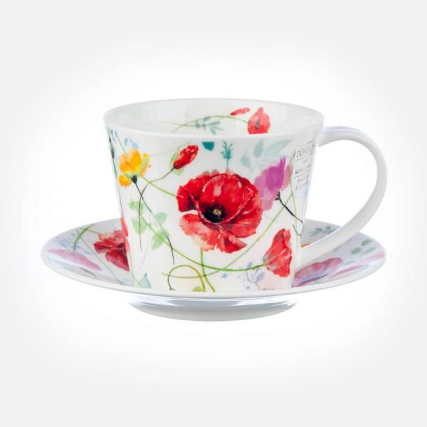 ISLAY Cup & Saucer Wild Garden Poppy