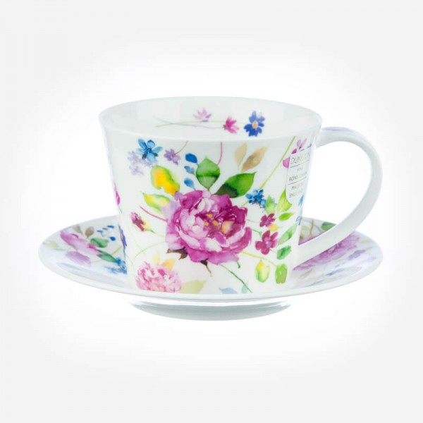 ISLAY Cup & Saucer Wild Garden Rose