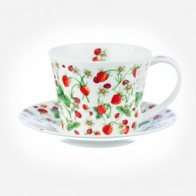 ISLAY Cup & Saucer Dovedale Strawberry