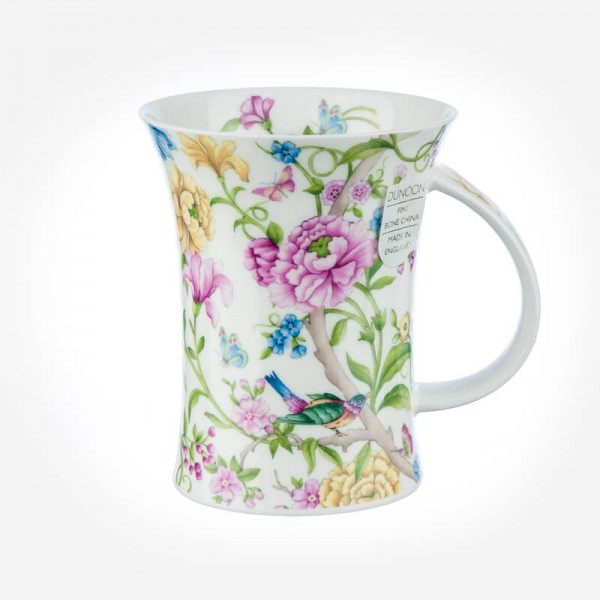 Dunoon Mugs Richmond Oriental Blossom white