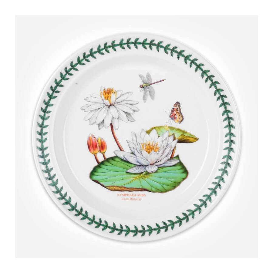 Exotic Botanic Garden 10 Inch Plate White Water Lily