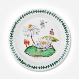 "Exotic Botanic Garden 8"" Plate White Waterlily"