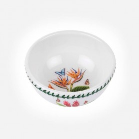 "Exotic Botanic Garden 5.5"" Fruit Salad Bowl Bird of Paradise"