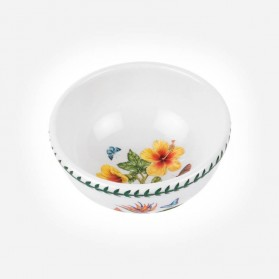 "Exotic Botanic Garden 5.5"" Fruit Salad Bowl Hawaiian Hibiscus"