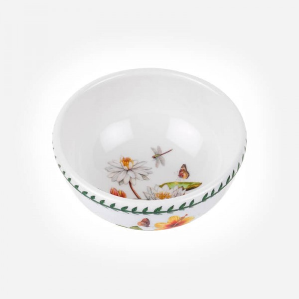 "Exotic Botanic Garden 5.5"" Fruit Salad bowl White Water Lily"