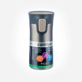 Contigo Pinnacle Double Wall Vacuum Insulated Tumbler Latte Transparent