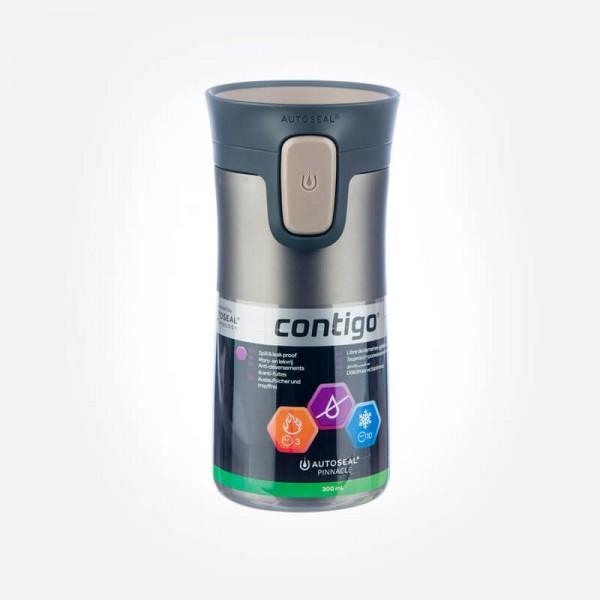 Contigo Pinnacle Double Wall Vacuum Insulated Tumbler Latte Transparent