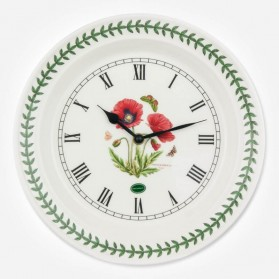 "Botanic Garden Poppy 10"" Wall Clock"