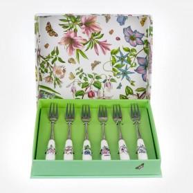 Botanic Garden Pastry Fork 6 piece gift box set
