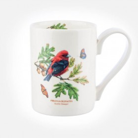 Botanic Garden Birds Coffee Mug Scarlet Tanager