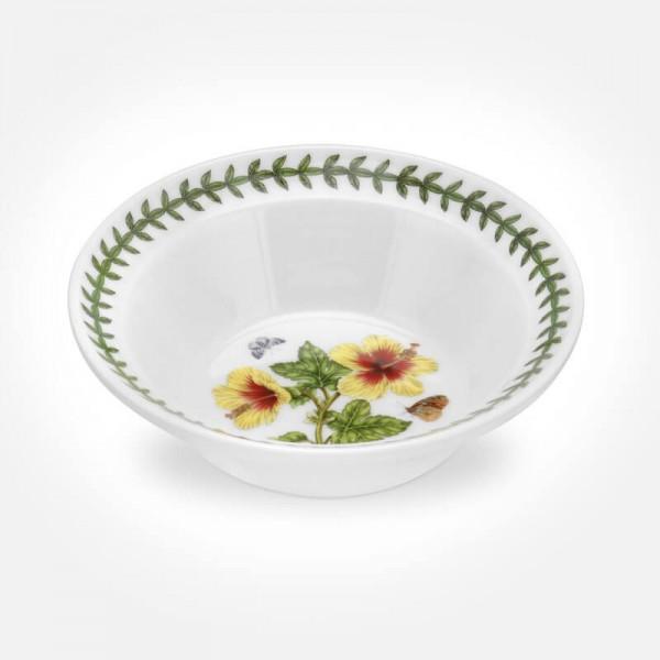 "Exotic Botanic Garden 6"" Oatmeal Bowl Hawaiian Hibiscus"