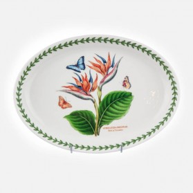 "Exotic Botanic Garden Oval Platter 11"" Bird of Paradise"