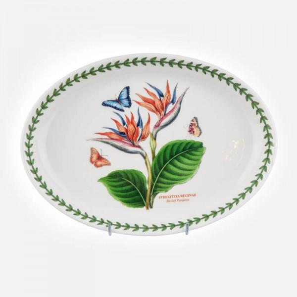 "Exotic Botanic Garden Oval Platter 11"" Bird of Paradise"
