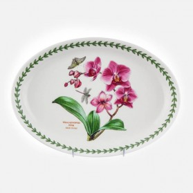 Exotic Botanic Garden Oval Platter 11 inch Moth Orchid