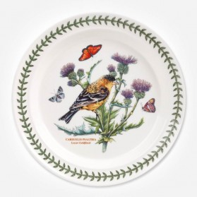 Botanic Garden Birds 10 inch Dinner Plate Goldfinch